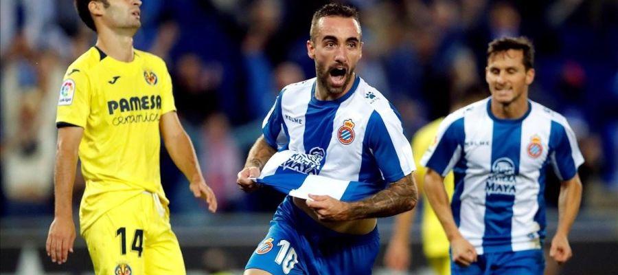 El Espanyol celebra un gol ante el Villarreal
