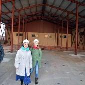 Zamora y Torralbo durante la visita a las obras del Guardapasos