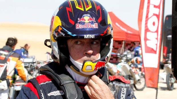 Carlos Sainz, durante una etapa del Rally Dakar