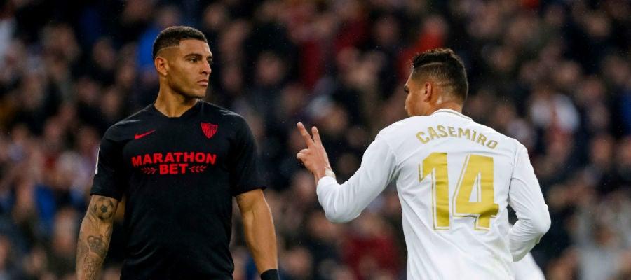 Casemiro celebra un gol