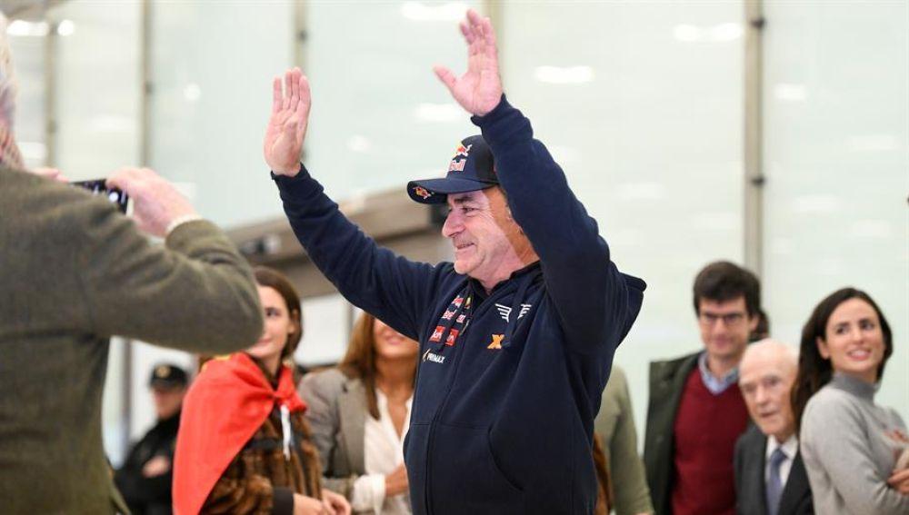 Carlos Sainz a su llegada a Madrid