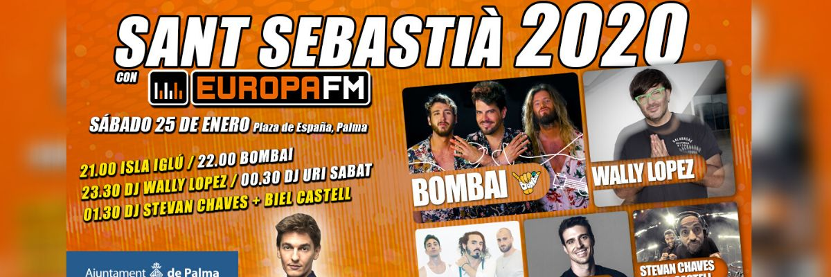 Cartel de las fiestas de Sant Sebastià 2020 de Palma de Mallorca