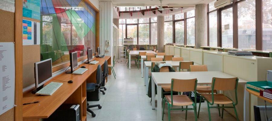 Un aula vacía de un colegio de Baleares.