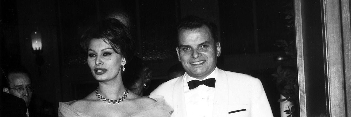 Alfred Bauer y Sofía Loren, durante una de las primeras ediciones de la Berlinale del primero como director