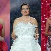 Montaje con las presentadoras de los Premios Forqué, los Premios Goya y los Premios Feroz