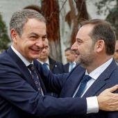 José Luis Ábalos con el expresidente del Gobierno, José Luis Rodríguez Zapatero