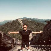 Daniel Carmona, durante su estancia en China