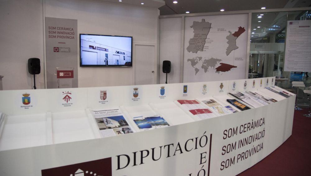 Stand de la Diputación de Castellón en Cevisama.