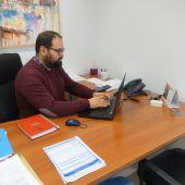 Javier Bello, en su despacho