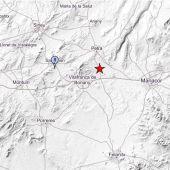 Mapa que muestra el epicentro del terremoto registrado en Mallorca.