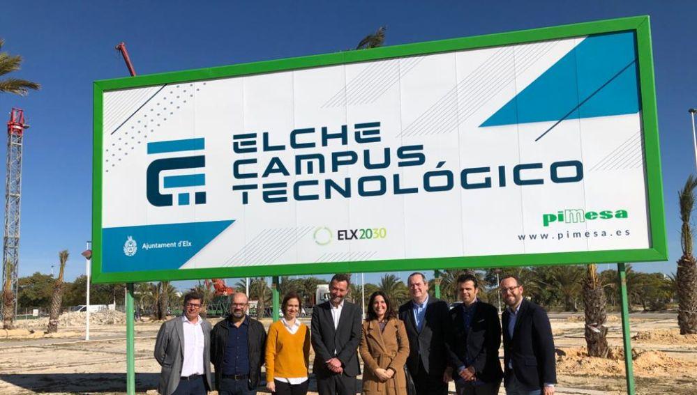 Visita a la zona del Campus Tecnológico de Elche.