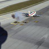 Un avión en Barajas