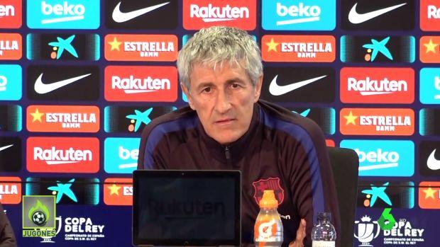 """Jugones (05-02-20) Quique Setién y el incendio en el Barça: """"No voy a dejar que nadie se distraiga con cosas de fuera"""""""