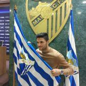 El jugador del Málaga Antoñín