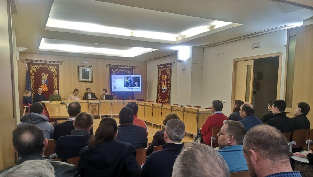 Presentación en el Ayuntamiento de Aspe.