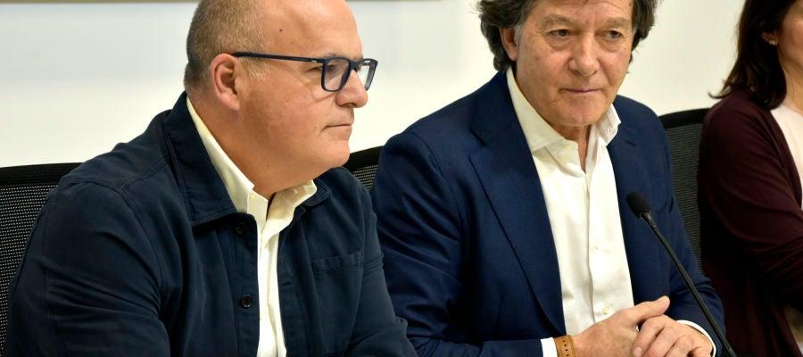 Manuel Baltar e José Ramón Lete na presentación das competicións nacionais de Remo en Castrelo de Miño