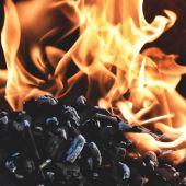 Combustión del carbón en una central térmica
