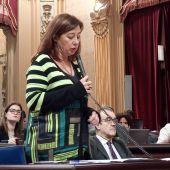 Francina Armengol, durante el Pleno del Parlament