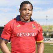 Thierry Feuteu, jugador de la selección española de Rugby.