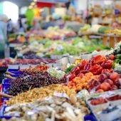 Frutas y verduras de un mercado