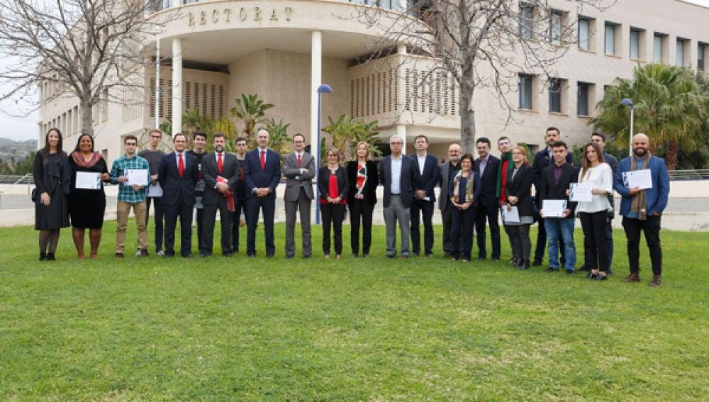 Entrega de becas Banco de Santander en la Universitat Jaume I