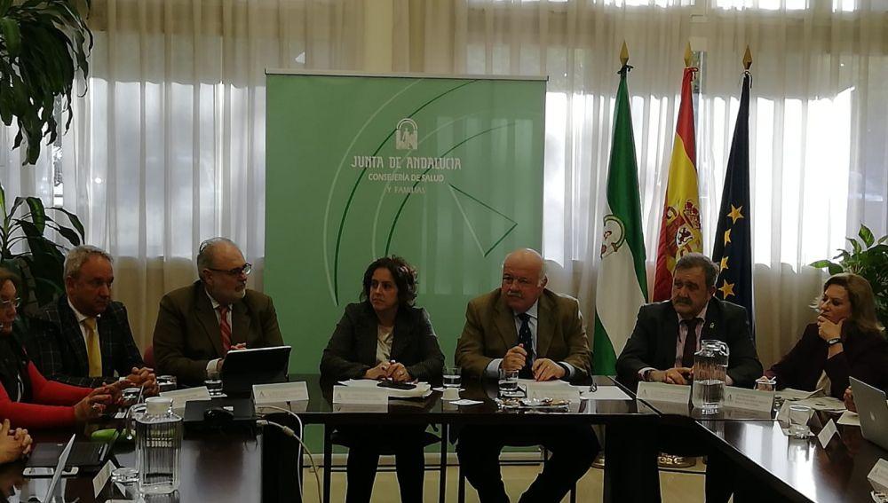 Reunión del comité asesor del coronavirus en Andalucía