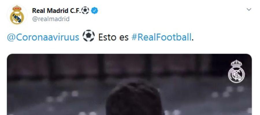 El tuit del Real Madrid sobre el coronavirus