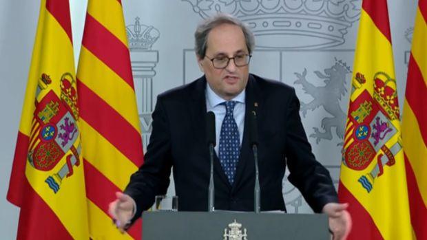 """Torra, tras la reunión en Moncloa: """"Seguimos sin conocer la respuesta del Gobierno ante el conflicto catalán"""""""