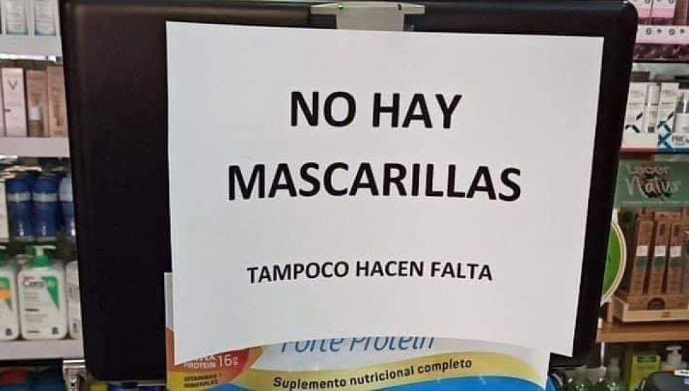 NO HAY MASCARILLAS