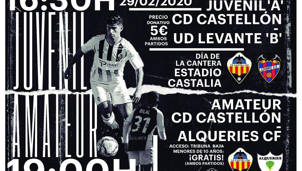 Castalia acogerá a la cantera del Castellón, este sábado