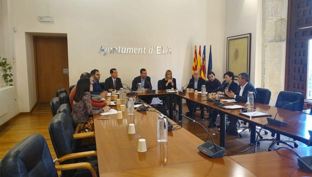Reunión de los alcaldes del Vinalopó en Elche.