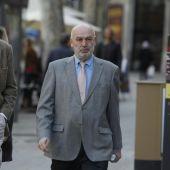 El Juez Miguel Florit a su llegada a los Juzgados de Palma