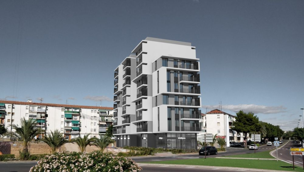 Simulación del edificio que se va a construir en Elche.