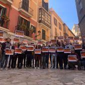 Comerciantes de Palma protestan contra los cambios en movilidad del Ayuntamiento