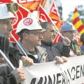 Manifestación de los mineros