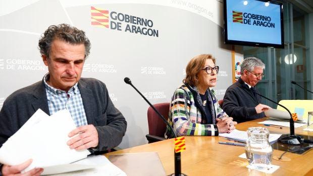 La consejera de Sanidad, Pilar Ventura, ha realizado una rueda de prensa por el primer caso confirmado de coronavirus en Aragón