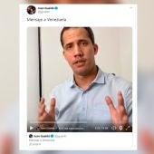 Juan Guaidó en su cuenta de Twitter