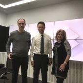 Matías Prats con Bruno Cardeñosa y Silvia Casasola