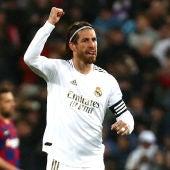 Sergio Ramos celebrando uno de los goles contra el FC Barcelona
