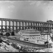 foto antigua de la plaza oriental de Segovia