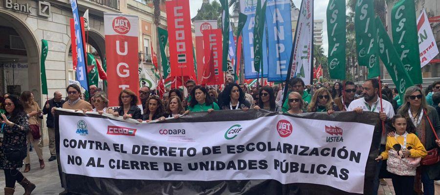 Huelga Educación Huelva