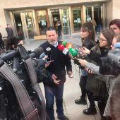 Francisco Guerrero a las puertas de la Audiencia Provincial de Castellón