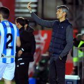 El entrenador de la Real Sociedad, Imanol Alguadacil.