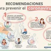 Recomendaciones de prevención del coronavirus