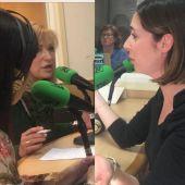 Elena Bonet y Esther Díez en la tertulia de Onda Cero Elche