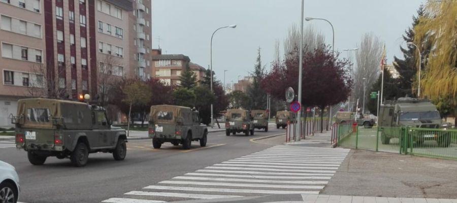 20 miembros de la sección de Artillería del Ejército vigilan el cumplimiento del estado de Alarma en Palencia