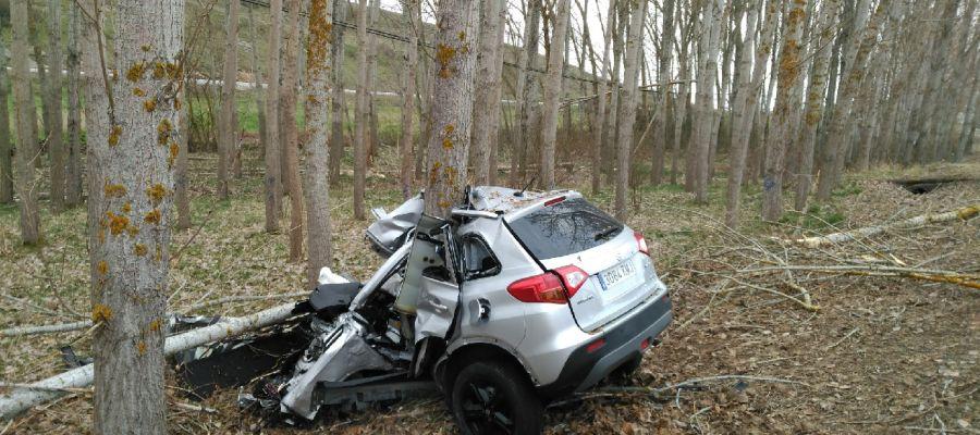Fallece el conductor de un vehículo en un accidente ocurrido en el término de Guardo