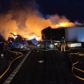 Accidente de tráfico en la A7 en Crevillent.