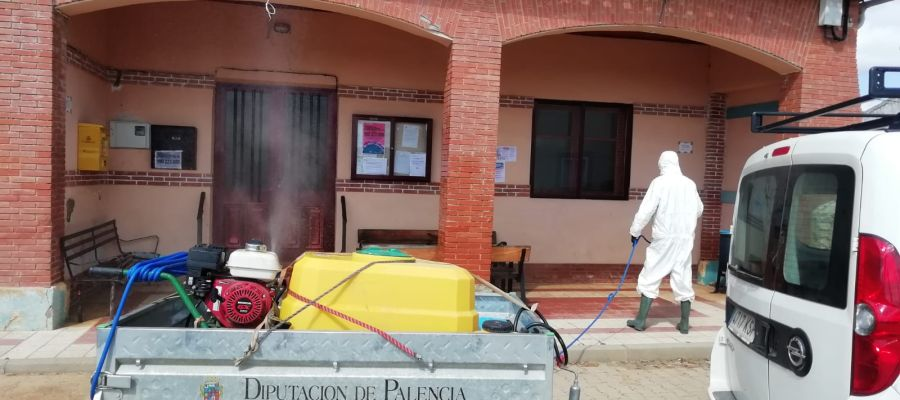 La Diputación activa los trabajos de desinfección en Residencias de Mayores de la provincia y pequeños municipios