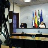 Mamen Sánchez en rueda de prensa